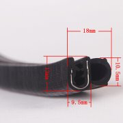 rubber seal strip with metal insert
